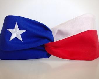 Texas Flag Turban Twist Headband