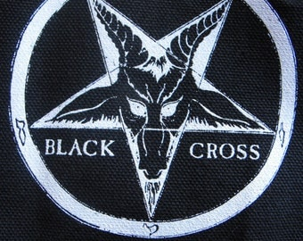 45 GRAVE  pentagram patch goth gothic punk Free Shipping