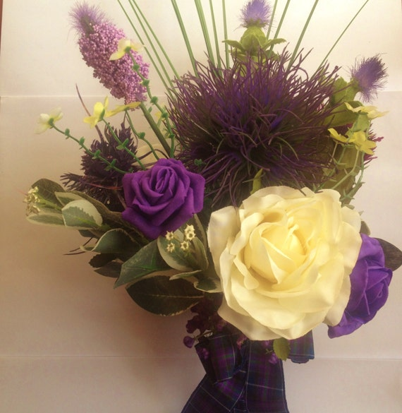 Traditional  Scottish Thistle Wedding Bouquet