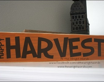 24x6 Happy Harvest Wood Sign