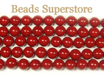CLOSEOUT GENUINE 8 mm Grade A Burgundy Mother of Pearl Round Bead - 20 pcs