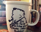 JRR Tolkien Mug // Custom Crafted Mug // The Hobbit
