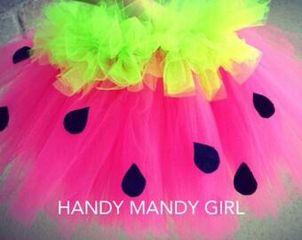 "Watermelon tutu skirt-""yum yum watermelon""adorable watermelon inspired tutu skirt knee lenght-party skirt"