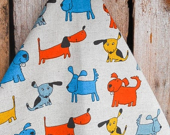Dog Towel Dog Gift Dog Decor Linen Tea Towel Dog Lovers Gift Hand Towel Kitchen Towel Dish Towel Animal Decor Christmas Gift Birthday Gift
