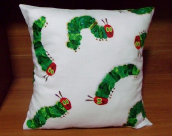 The Very Hungry Caterpillar cushion cover - baby nursery, toddler child bedroom decor, baby gift