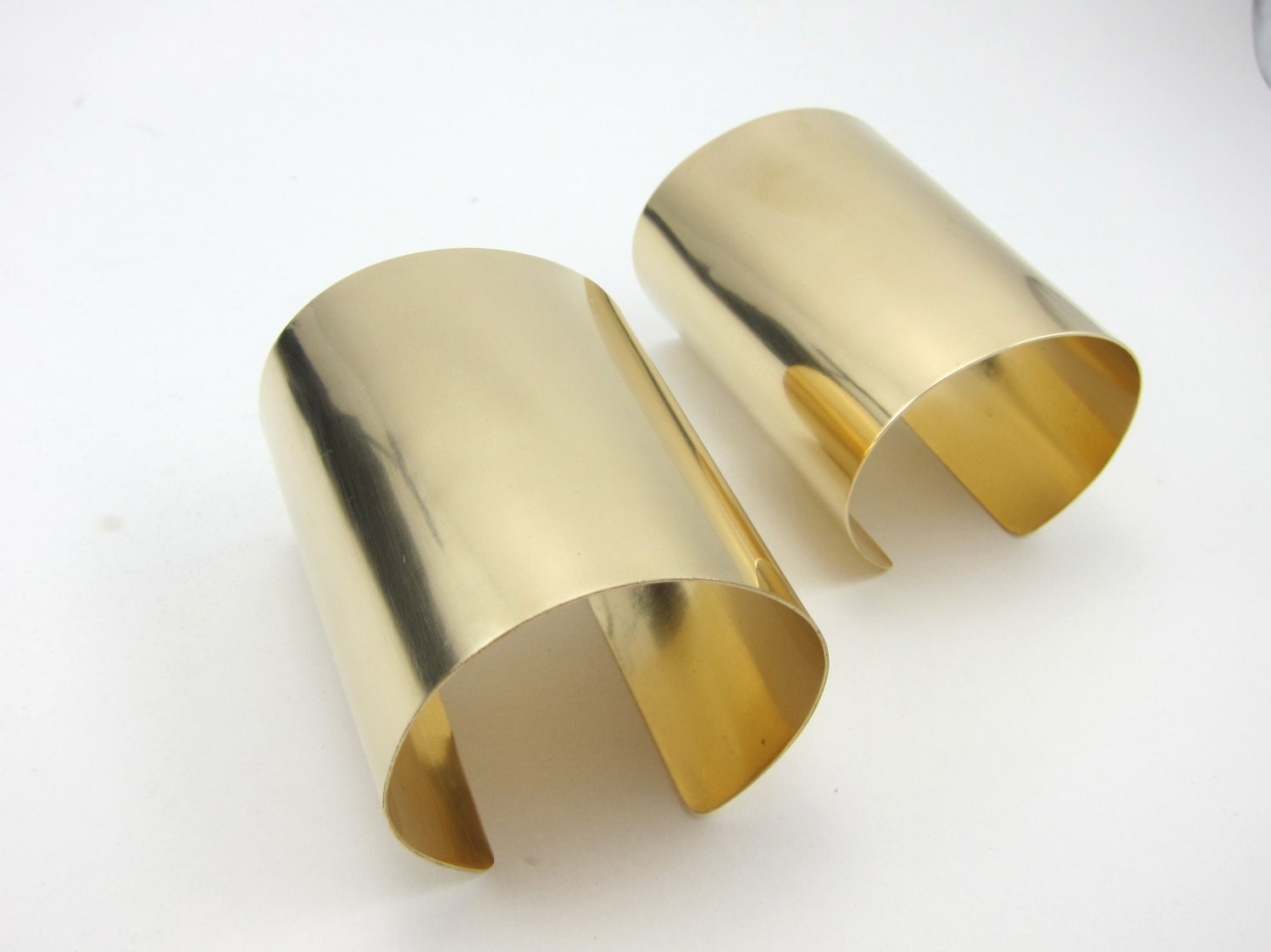 extra wide gold cuff bracelet modern statement piece