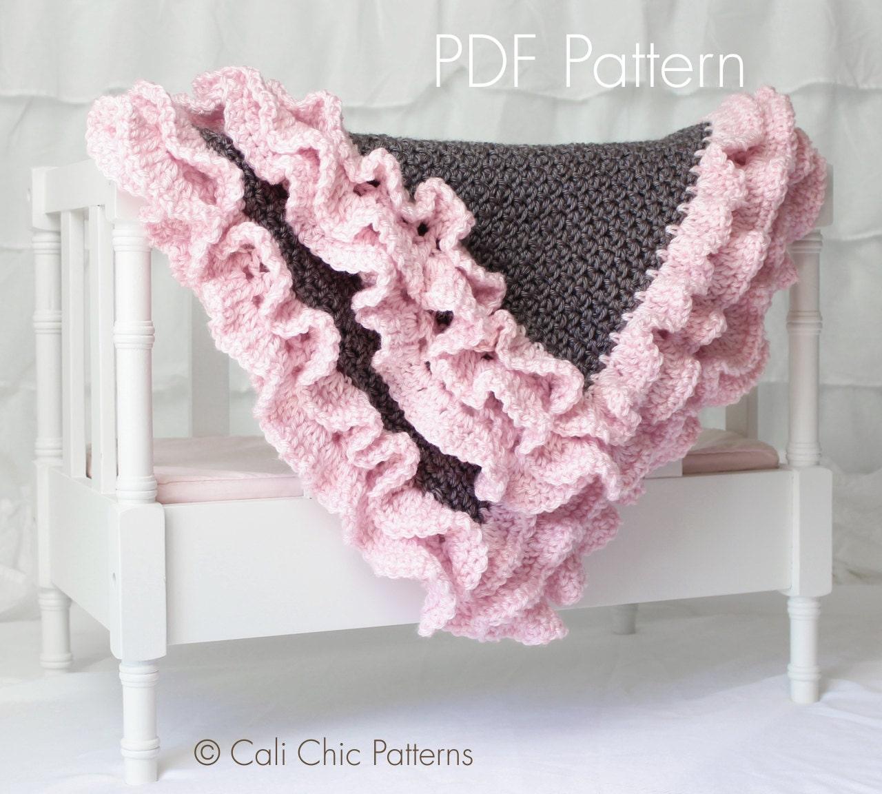 Crochet Baby Blanket PATTERN 109 Foxy Wrap Crochet Baby
