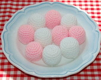 Crochet Pattern for Marshmallows / Sweets - Play Food, Toy Food, Crocheted Food