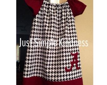 Girls houndstooth dress, girls crimnson dress, girls alabama dress, girls football dress, girls clothing', houndstooth dress, baby alabama