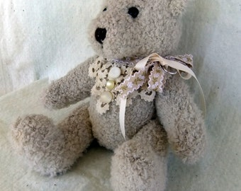 Ring Bearer Bear with Vintage Lace
