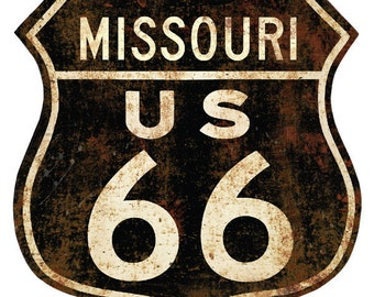Route 66 Missouri Distressed Wall Decal #40915