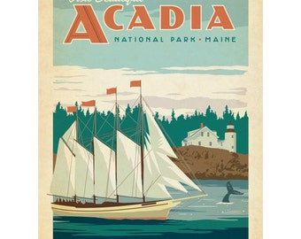 Acadia National Park Maine Ship Wall Decal #48315