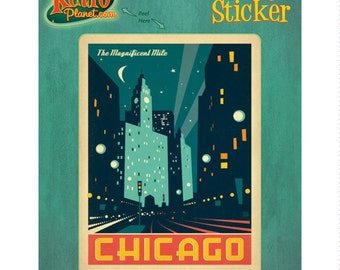 Chicago Illinois Magnificent Mile Vinyl Sticker #47913
