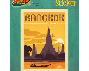 Bangkok Thailand City Skyline Vinyl Sticker - #47922