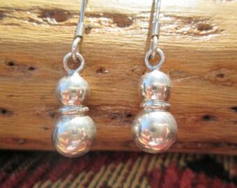 Sterling Silver Balls Dangle Earrings