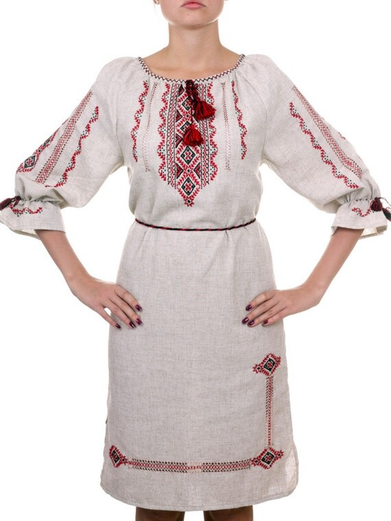 Items Similar To Ukrainian Embroidery Ladies39 Pesant Dress