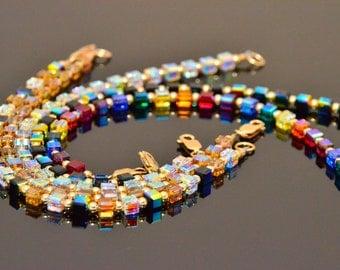 Swarovski Crystal & Gold Simplicity Bracelet