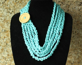PDF Crochet Chain Necklace, Necklace, Jewelry, Crochet Necklace Pattern