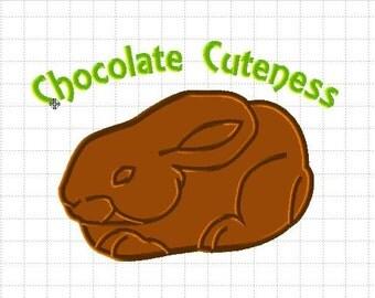 Bonus chocolate bunny Applique design give away