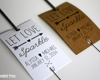 Wedding Sparkler Send Off Tags - Printable Sparkler Tag -  Woodland Wedding - Let Love Sparkle - Wedding Sparkler - AA4