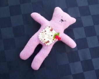My cherry pocket  teddy bear tooth pillow fairy