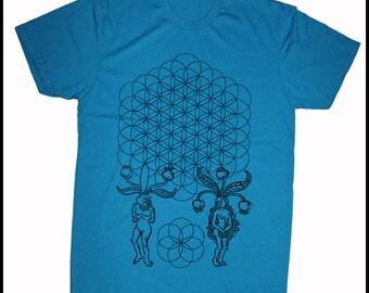 Men's ORIGINS Flower of Life Mandrake People Seed of Life Shirt Sacred Geometry Tee