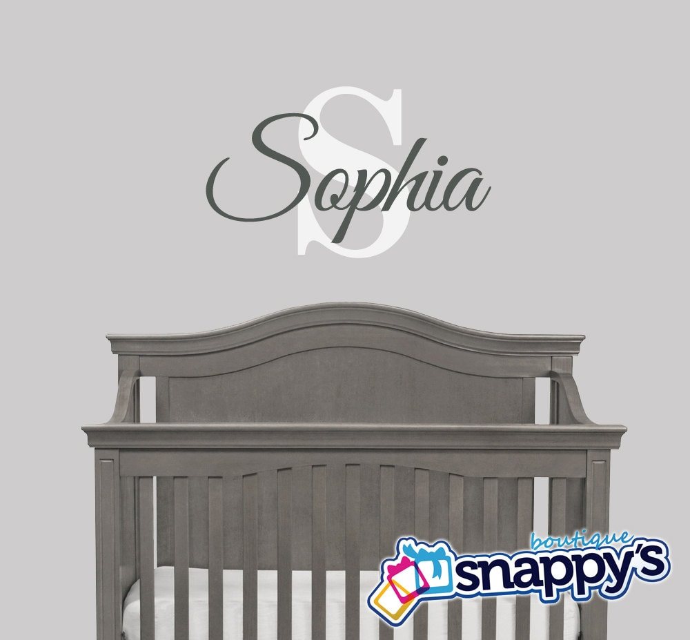 Wall Decals Stickers Snappys Boutique - Monogram wall decals for nursery