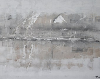 """Purity - 40"""" art original Painting abstract painting large painting acrylic from Oliver Watt wall decor for your home"""