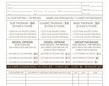 Dance Photography Order Form Template - School - Photography Sales - Marketing - School Photography - Sales Template - INF102BF