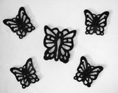 Cast Iron Butterfly Trivets, Set of 5  - Mid Century Vintage - Made in Taiwan