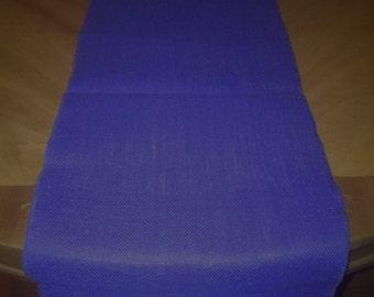 "14"" x 90"" Ecliptic Blue Burlap Table Runner (Serged edges)"