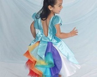 Rainbow Dash Dress, My Little Pony Inspired  Theme Beautiful Dress