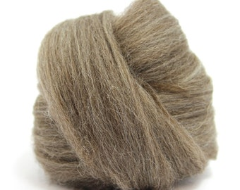Brown Blue Faced Leicester Top / Roving - 100g/3.5oz - Felting - Spinning Fibre / Fiber - Crafts