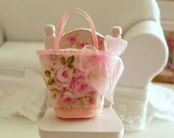 dollhouse miniature fabric  bag- Barbie and Blythe size