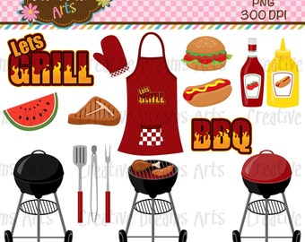 40% Off! Barbecue Digital Clip Art Instant Download