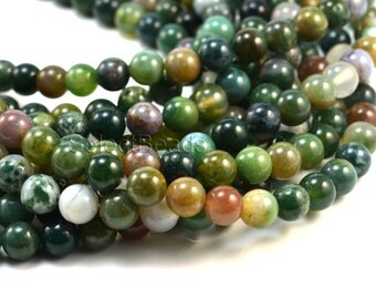 Indian agate,agate, 4-16mm, round bead, green bead, gemstone, gemstone bead, gift supply, craft supply, organic stone,  beading supply