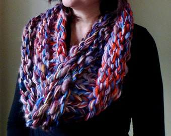 George Knitted mixed fibre cowl