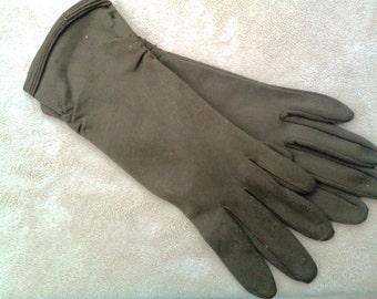Ladies Brown Stretch Gloves