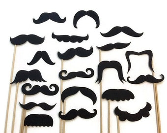 Photo Booth Props- 20 Piece Mustache Variety Set
