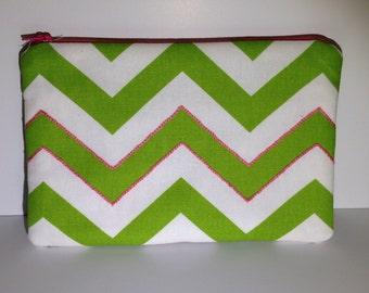 SALE! Green and Pink Chevron ereader sleeve / iPad Mini sleeve / Kindle sleeve