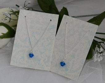 Flower Girl Junior Bridesmaid Jewelry Necklace - Swarovski Bicone Crystal - Customize to Your Color Wedding Bridal Party