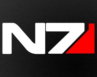 Mass Effect Inspired N7 Vinyl Decal