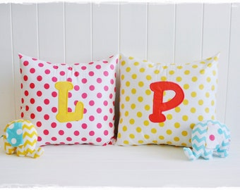 Embroidered Cotton Pillow Slips to fit 14x14 inch pillow inserts