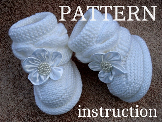 Baby Knitting Shoes Products : Knitting pattern baby booties shoes knitted