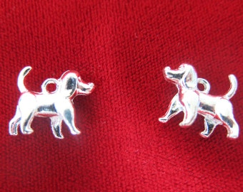 """8pc """"dog"""" charms in antique silver style (BC421)"""