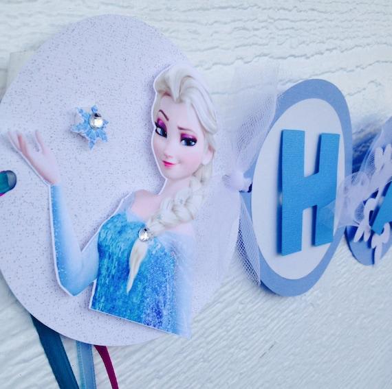 Frozen Birthday Banner Elsa Birthday Banner Frozen Party