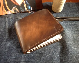 Leather wallet D Indy Basic (Dark Brown)
