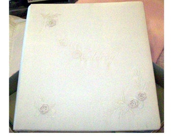 Wedding Album with Engraved Metal Plate