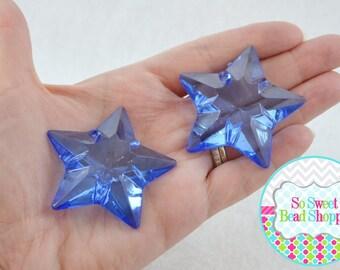 Acrylic Star Pendant, 2ct, Royal Blue, 48mm