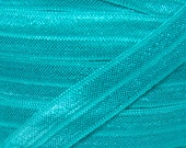 Jade Fold Over Elastic - Elastic For Baby Headbands and Hair Ties - 5 Yards of 5/8 inch FOE